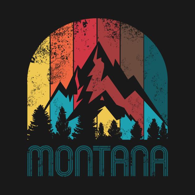 Retro Montana Design for Men Women and Kids
