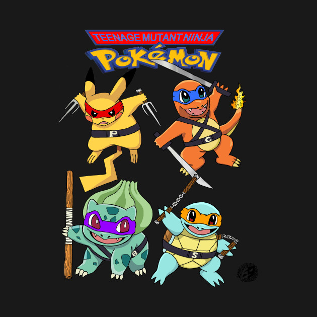 TMNP - TMNT / Ninja Turtle Pokemon Parody Shirt