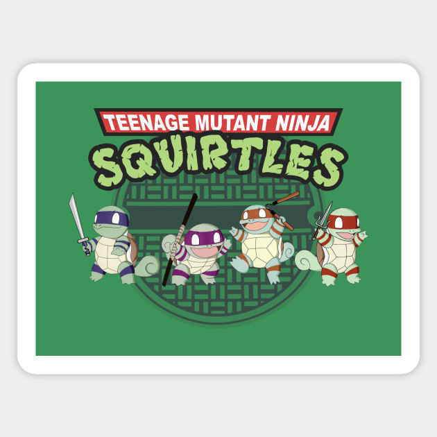 Ninja Squirtles Sticker