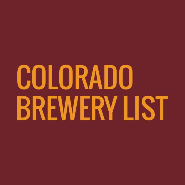 Colorado Brewery List - Amber