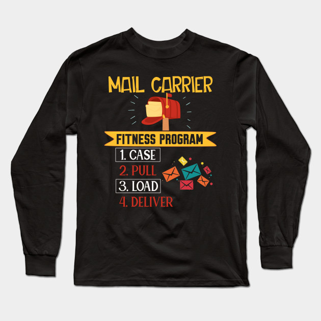 Funny Postal Worker Shirt Mail Carrier Fitness Program Funny