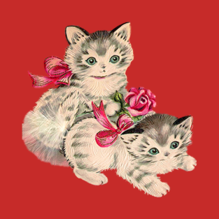 Kittens with Pink Bows t-shirts