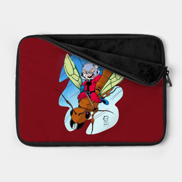 Chibi Ant-Man Riding a Flying Ant