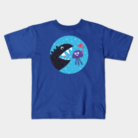 b4a3a0770e4 Cute Jellyfish In Love With Sea Monster Kids T-Shirt