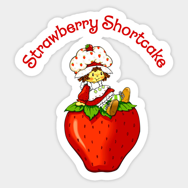 Strawberry Shortcake Vintage Cartoon Fan Art Strawberry