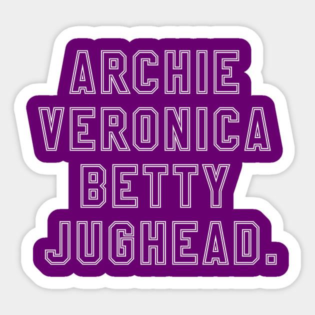 Archie Comics Character Heads Betty Veronica Jughead Adult T-Shirt Tee