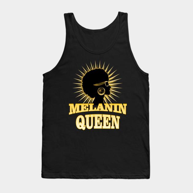 8c6e1299ee82aa Womens Melanin Queen Afro Pro Black African American T-shirt Tank Top