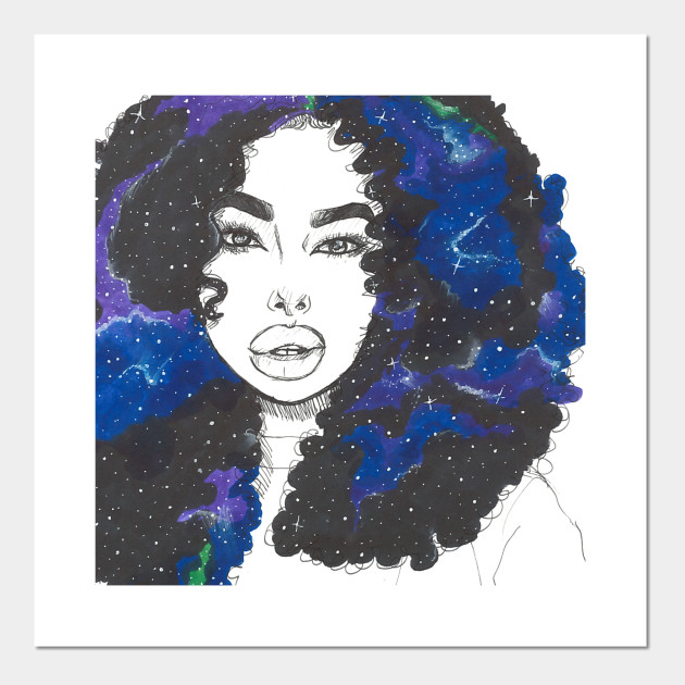 Galaxy Hair Galaxy Posters And Art Prints Teepublic