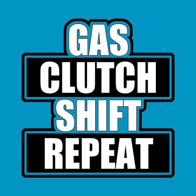 Gas clutch shift repeat