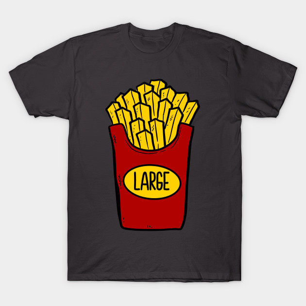 8894f2be Father and Son Large French Fries Design - Father And Son Matching ...