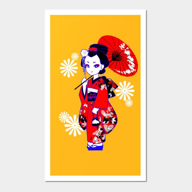 J-POP Geisha - Japan - Wall Art | TeePublic