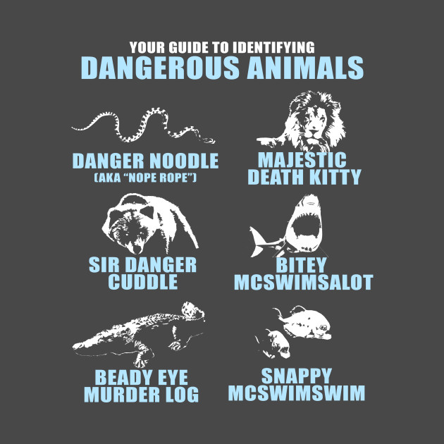A Guide To Identifying Your Home D�cor Style: Your Guide To Identifying Dangerous Animals - Animals - T-Shirt