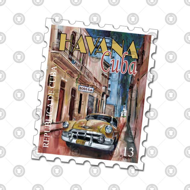 3da66931 Cuba Stamp - Cuba Stamp - Kids T-Shirt | TeePublic