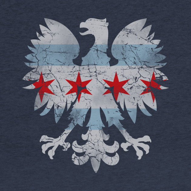 Vintage Chicago Flag Polish Eagle Heritage