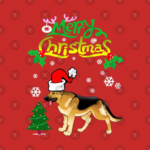 Merry Christmas In German.Merry Christmas German Shepherd Dog Gifts