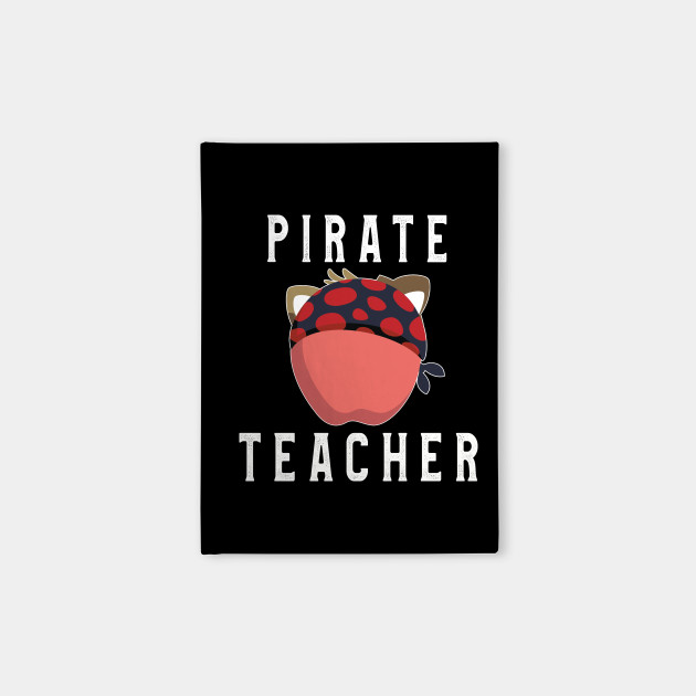 Pirate Teacher T-Shirt Funny Apple Wearing Pirate Hat