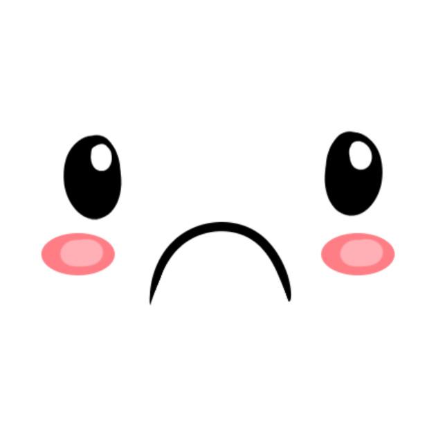 Sad Kawaii Emoticon