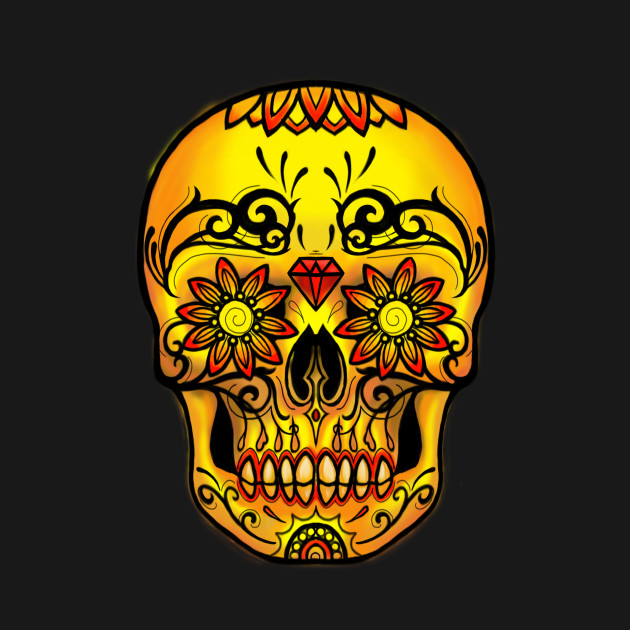 Sugar Skull Warm Colors Day of the Dead Ink Envy Edition