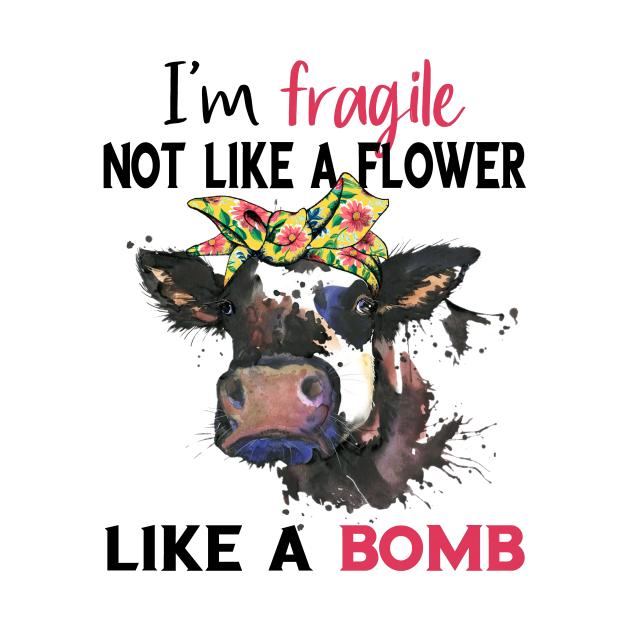 I am fragile not like a flower , like a bomb watercolor