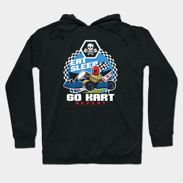 Eat Sleep Go Kart Repeat Karting Motorsport Flat Track Road Racing Racer Gifts