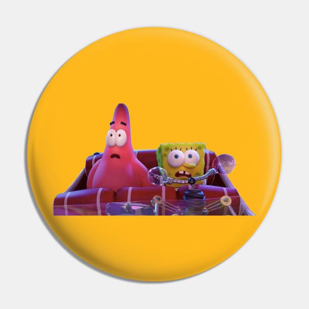 Sponge Bob and Patrick drive in a car