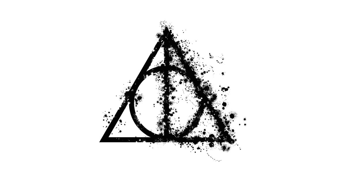 Harry potter deathly hallows half paint drops black for Harry potter deathly hallows wand