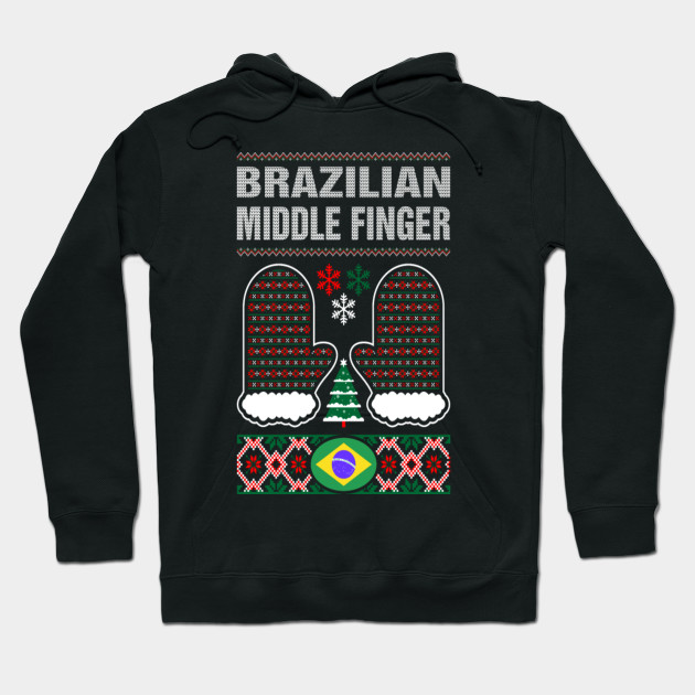 Brazilian Middle Finger Christmas Ugly Sweater
