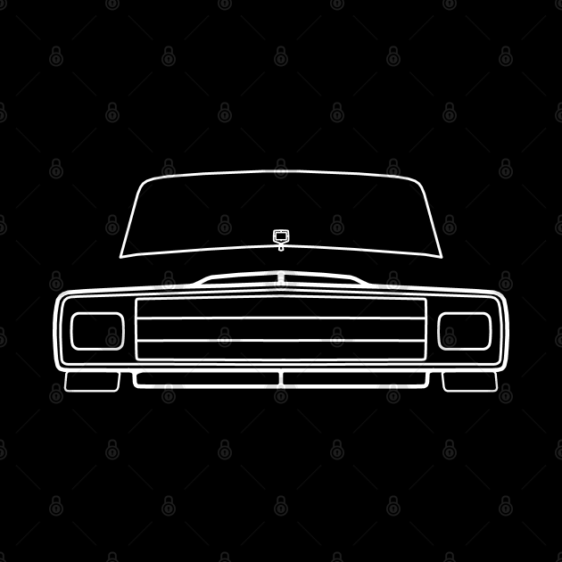 1987 vintage Jeep Grand Wagoneer outline graphic (white)