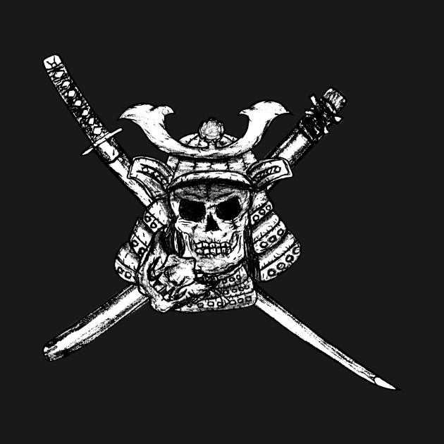 Samurai Skull Raider Jolly Roger