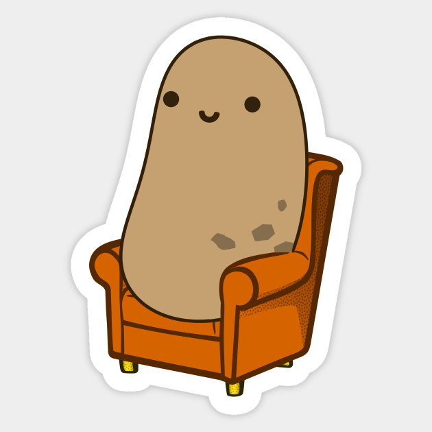 Cute Couch Potato Couch Potato Sticker Teepublic