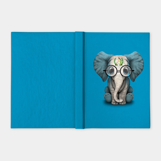 Baby Elephant with Glasses and Guatemalan Flag