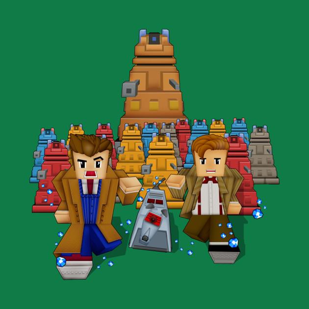 8bit Doctor vs Dalek