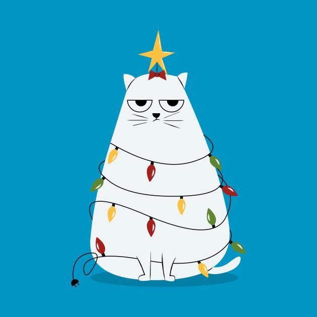 96fab73cf Grumpy Christmas Cat - Christmas Cat - T-Shirt | TeePublic