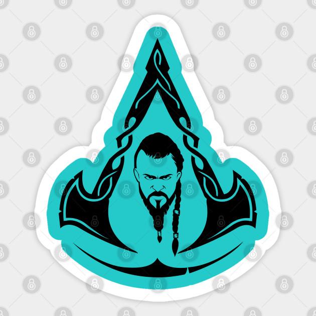 Assassin S Creed Valhalla Logo Viking Assassins Creed Sticker Teepublic