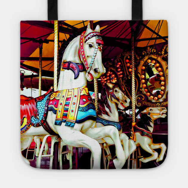 Carnival Midway - Three Carousel Horses