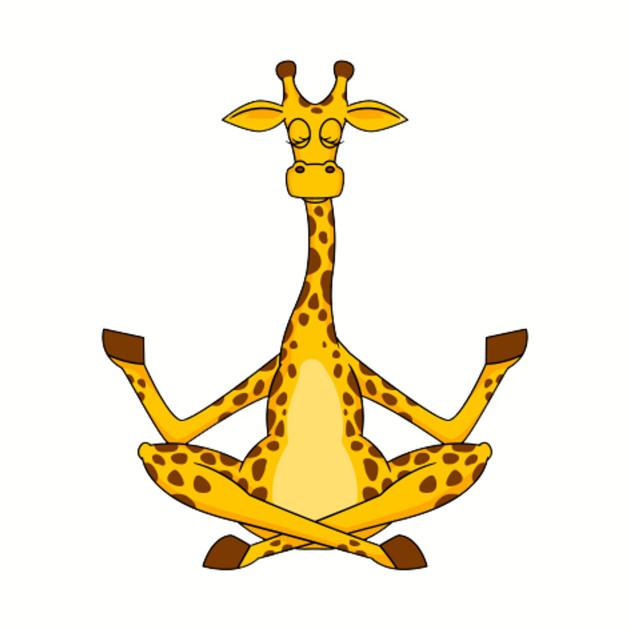 giraffe in yoga pose