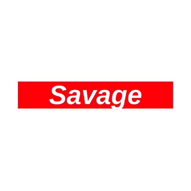 Savage // Red Box Logo - 21 Savage