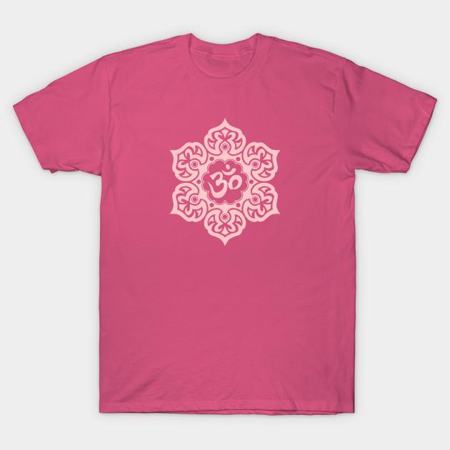 Pink Lotus Flower Yoga Om Om T Shirt Teepublic
