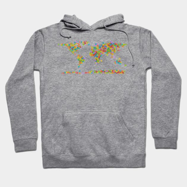 World Map Sweater.World Map Design World Map Hoodie Teepublic