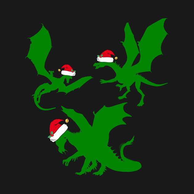 Christmas Dragon.Cool Christmas Dragon Santas