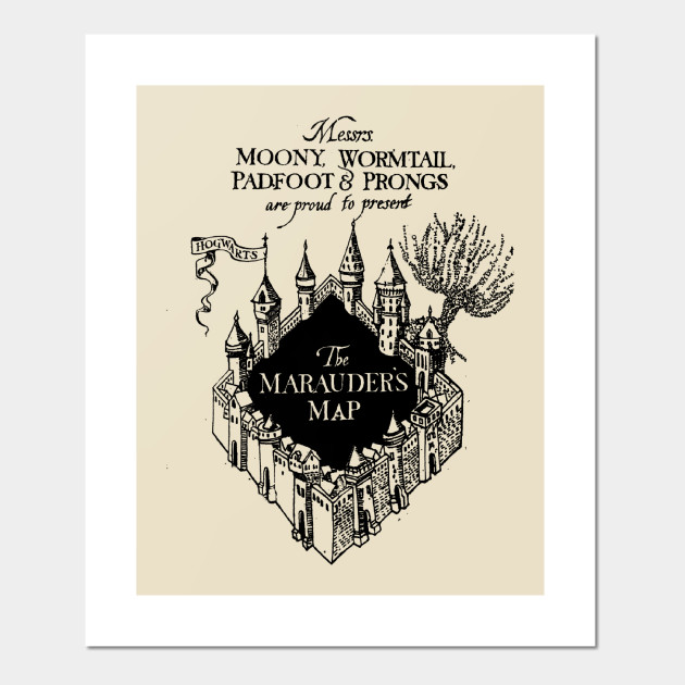 The Marauder\'s Map - Harry Potter - Posters and Art Prints   TeePublic