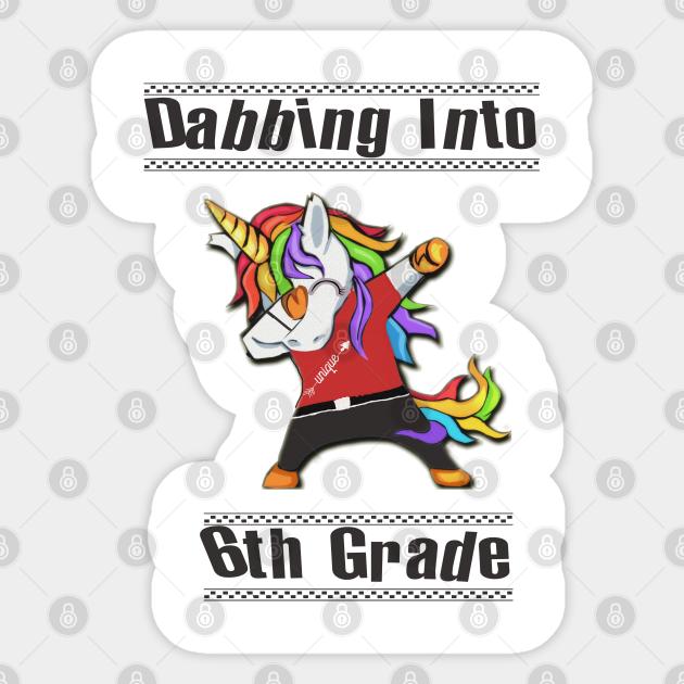 Kids Unicorn Back To School 8th Grade I/'m Ready But Not Sure Sticker Portrait