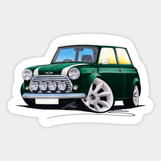 Rover Mini Cooper Sport British Racing Green Mini Cooper Sticker
