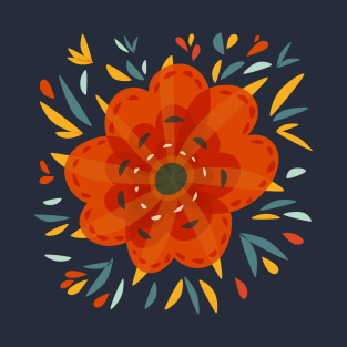 Decorative Orange Flower