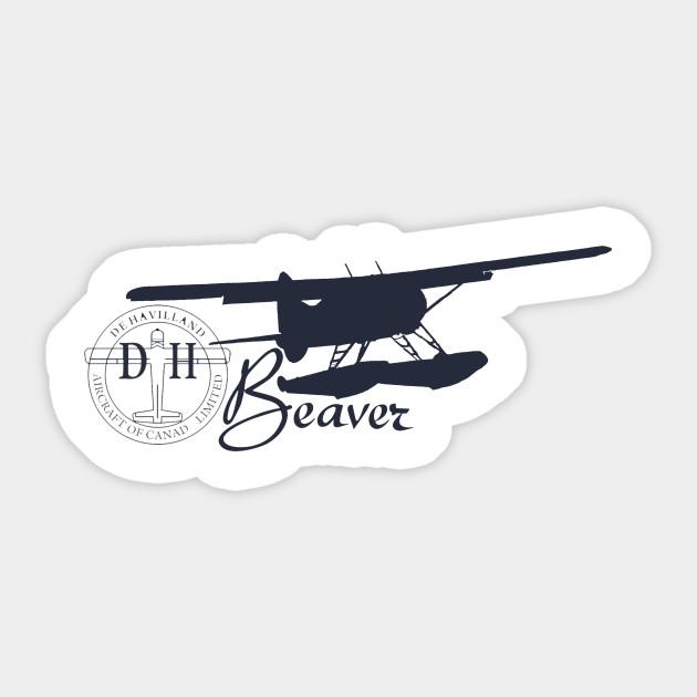 DE Havilland Beaver Aircraft Logo Decal//Vinyl Sticker!