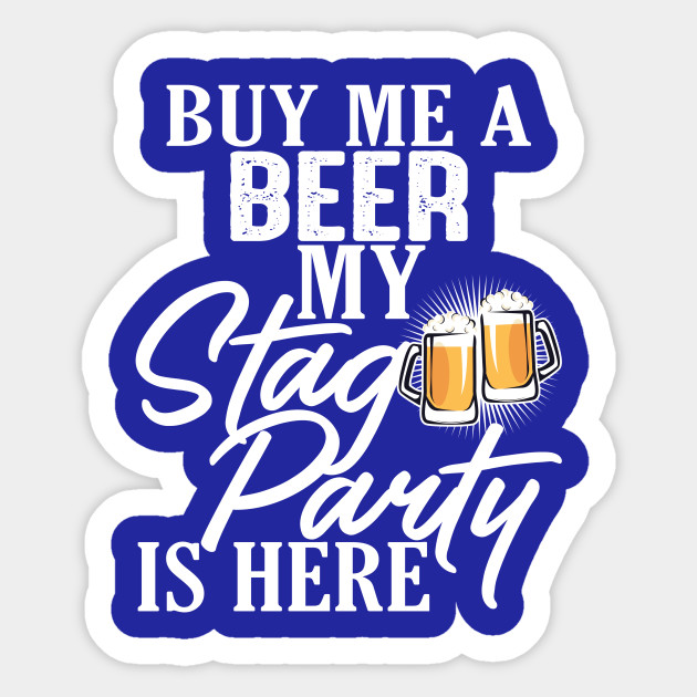 Funny Stag Party Buy Me A Beer T-Shirt
