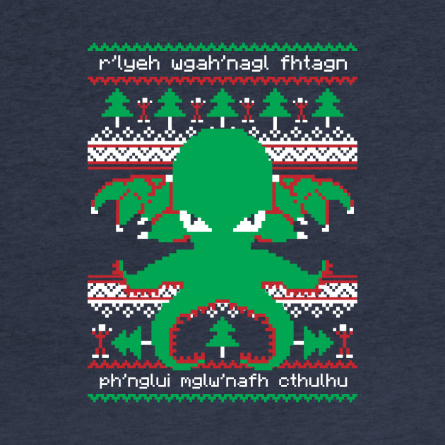 Cthulhu Cultist Christmas - Cthulhu Christmas Sweater - Ugly Sweater