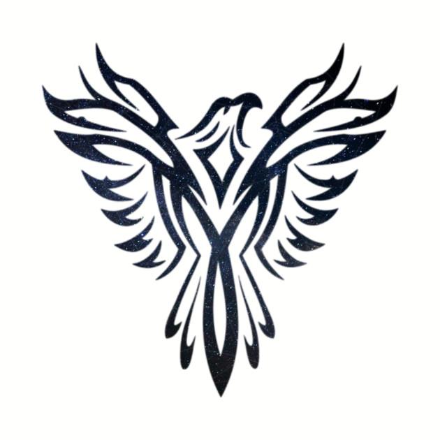 Night Sky Stars Phoenix Mythical Bird Rising Born Again Gift