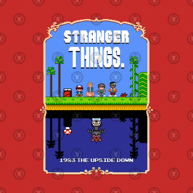 Stranger Things Mario Bros 2 Pixel Art Mashup