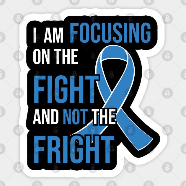 Colon Cancer Awareness Ribbon For A Cancer Survivor Colon Cancer Sticker Teepublic